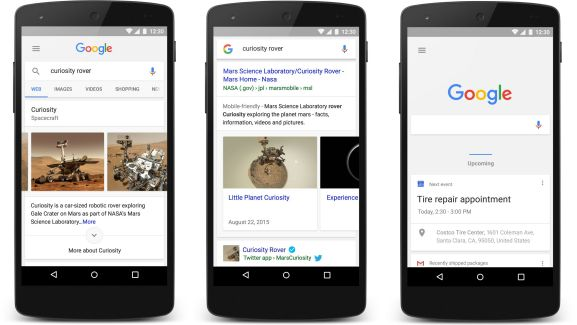 Google Search et Google Now ont également droit à un nouveau design