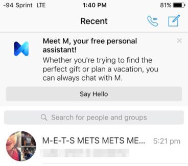 M, l'assistant personnel de Facebook, fait sa première sortie publique