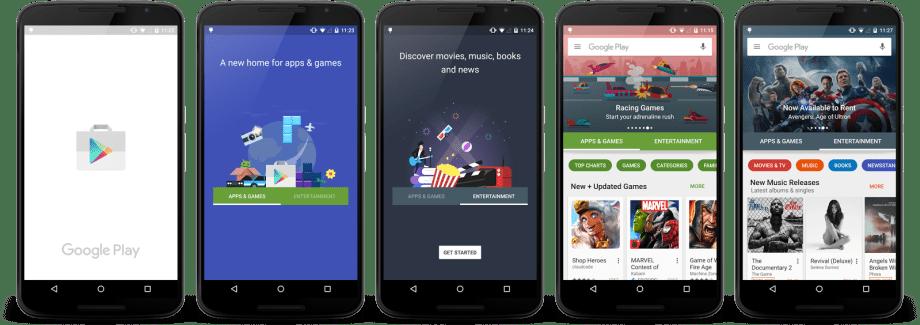 Le nouveau Play Store arrive timidement en France