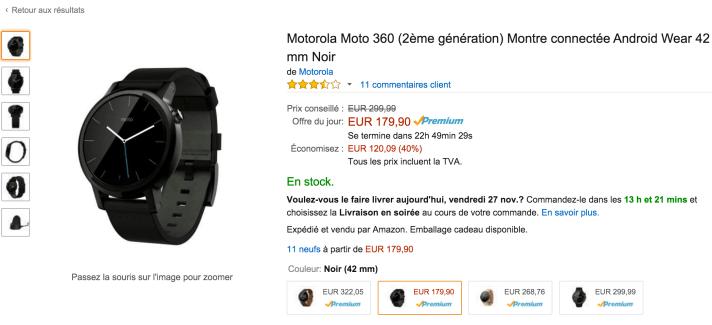 🔥 Bon plan : La Motorola Moto 360 (2ème génération) à 179 euros sur Amazon