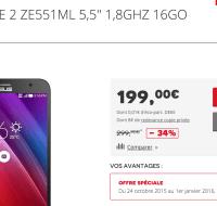 Bon plan : Asus Zenfone 2 (ZE551ML) à 199 euros
