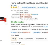 🔥 Bon plan : Parrot BeBop Drone à 350 euros, au lieu de 450 euros