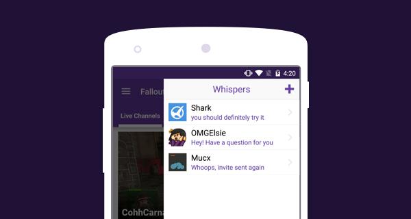 Twitch : les messages privés arrivent sur l'application