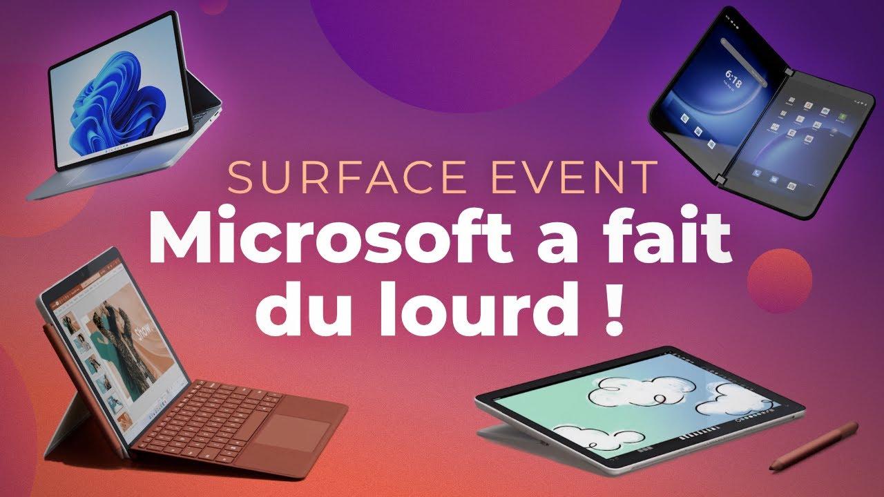 Surface Duo 2, Surface Laptop Studio, Surface Pro 8 : MICROSOFT revient en FORCE !