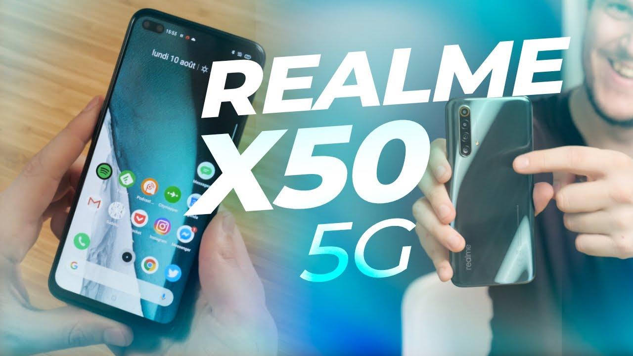 Realme X50 : écran 120 Hz, 5G pour SEULEMENT 379€ ! (On vous en offre 3 !)