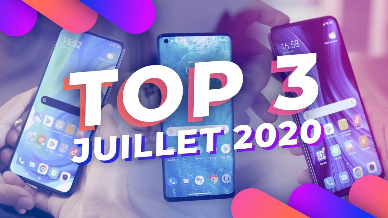 TOP 3 MEILLEURS smartphones sur Frandroid ! (Juillet 2020)