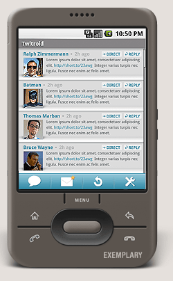 Twitroid : client Twitter sur Android !