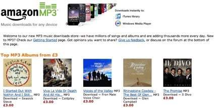 Amazon MP3 débarque en Europe