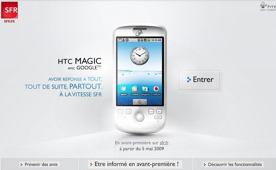 HTC Magic: Le 6 mai chez SFR