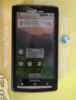 Nouvelle photo du Sony Ericsson XPERIA X3 avec Android ?