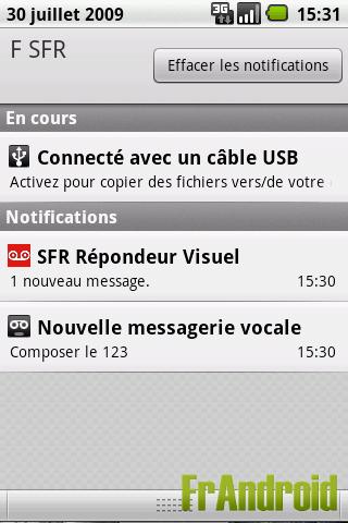 Repondeur visuel sur SFR