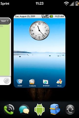 Un thème Android pour Palm Pré