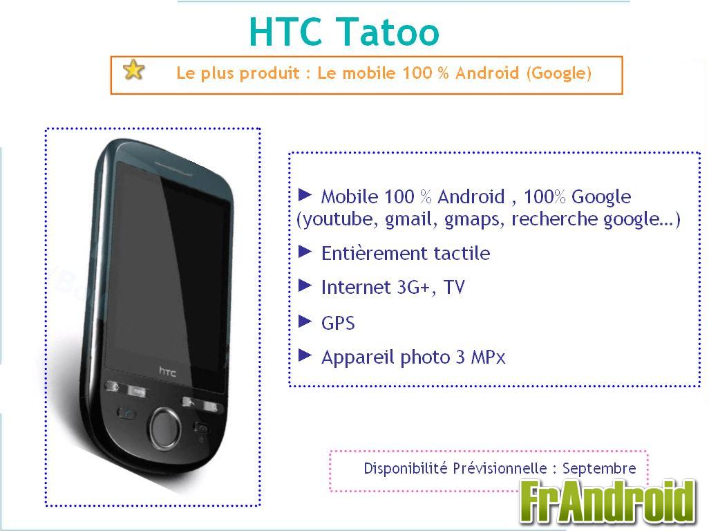 HTC Click et Samsung Galaxy Lite Android chez Bouygues Telecom
