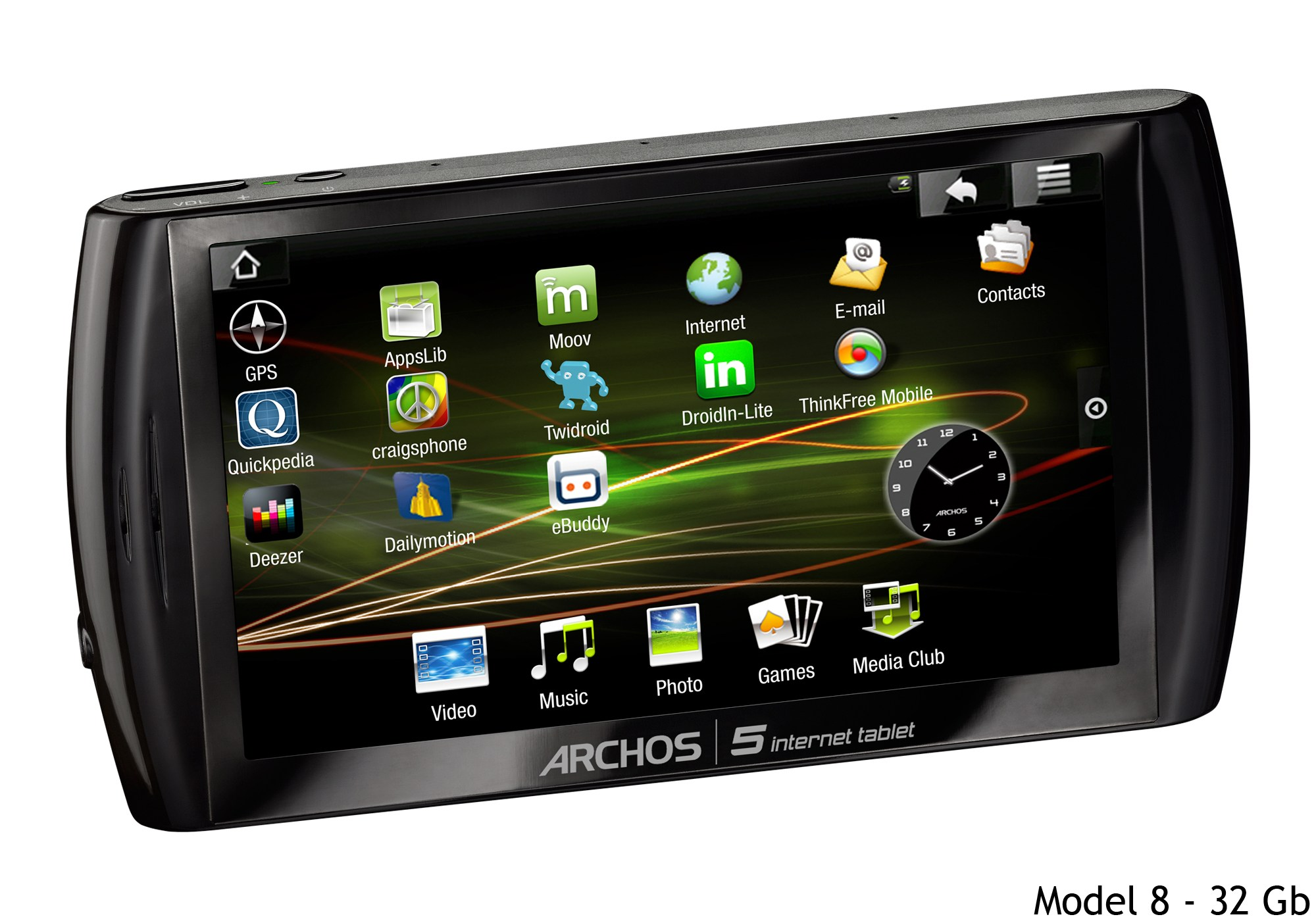 Archos annonce officiellement Archos 5 Internet Tablet