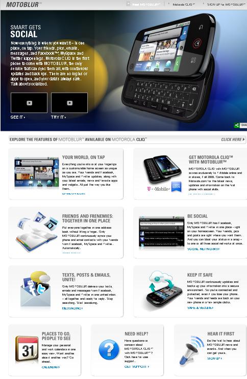 Motorola DEXT (CLIQ) : caractéristiques, détails, et photos !