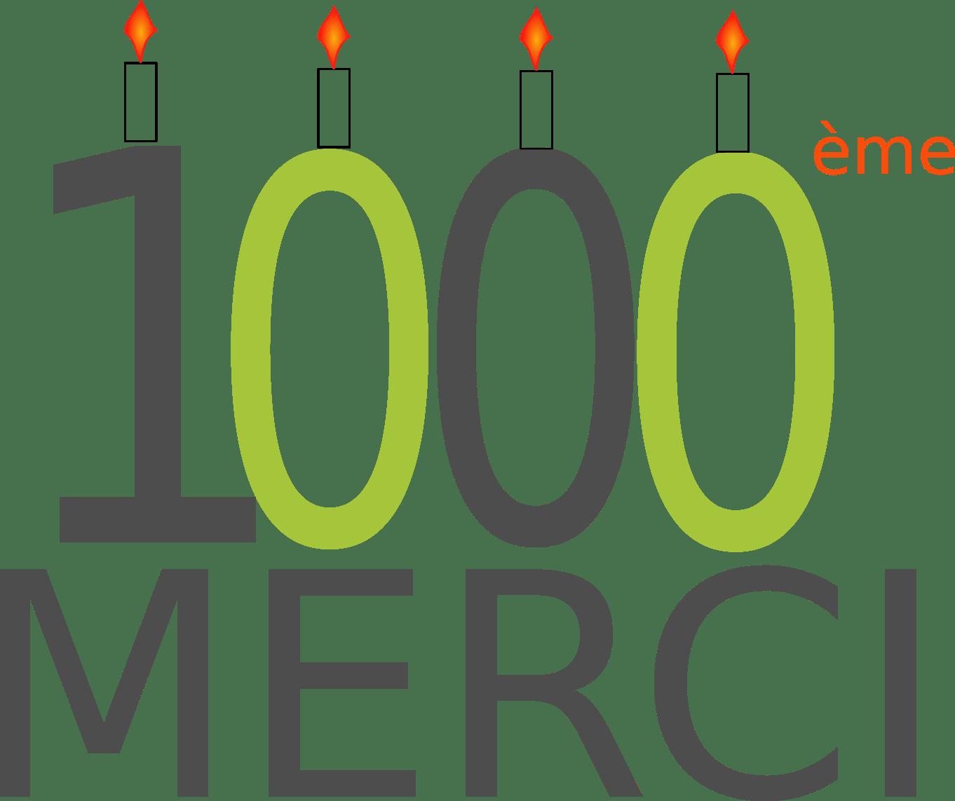 1000ème article : merci à vous !