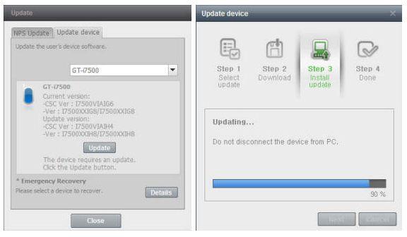 Une nouvelle mise à jour pour le Samsung Galaxy