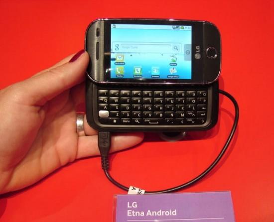 LG Etna : le premier smartphone Android de la marque !