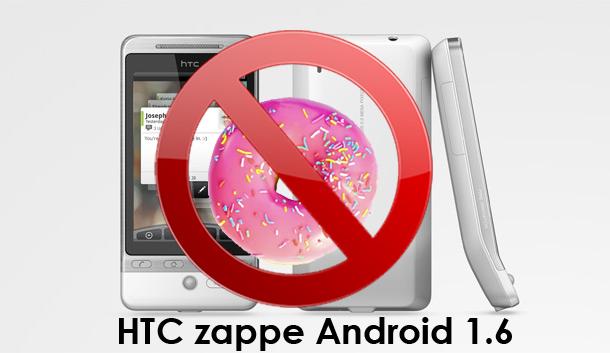 Pas d'Android 1.6 (Donut) sur le HTC Hero