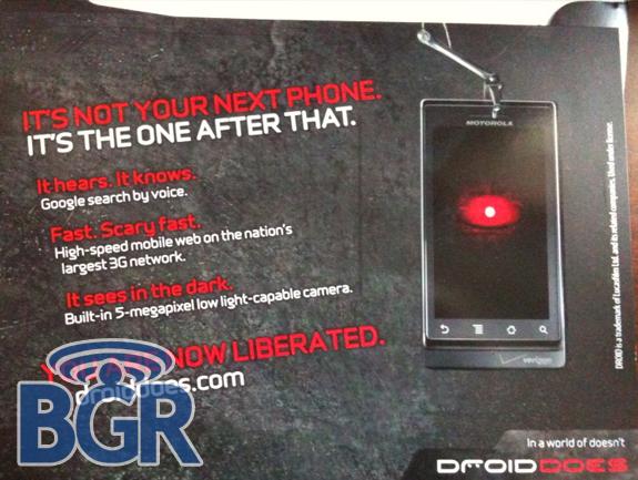 Le lancement du Motorola Droid est imminent !