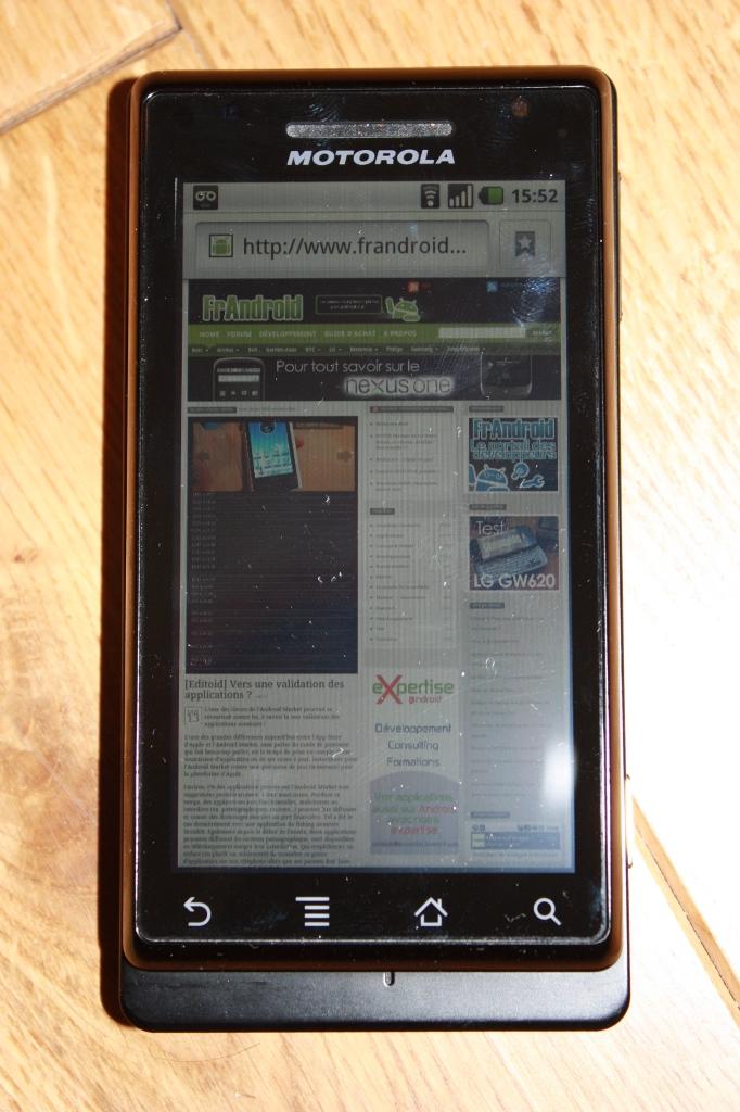 Test du Motorola Milestone