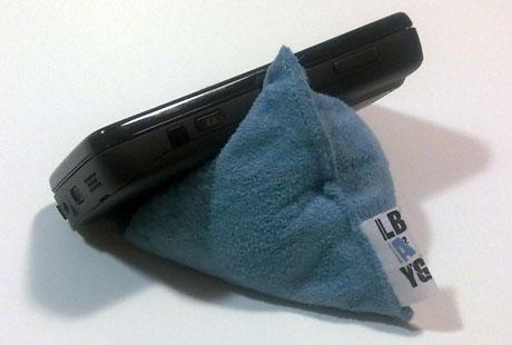 Test d'un pouf pour téléphone, le Laybag