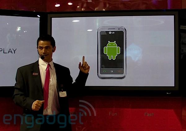 CES 2010 : Avec le LG GT540 (Swift), LG prévoit de sortir au moins trois androphones en 2010