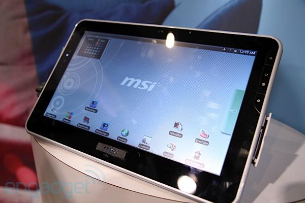 CES 2010 : MSI nous présente une tablette 10 pouces avec Tegra 2 sous Android