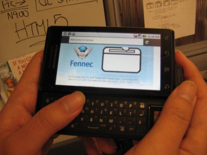 Des nouvelles de Fennec (Firefox Mobile) sur Android