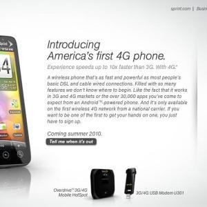 HTC EVO (Supersonic), HTC vient de présenter le premier androphone 4G !