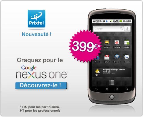 L'opérateur virtuel Prixtel distribue le Nexus One