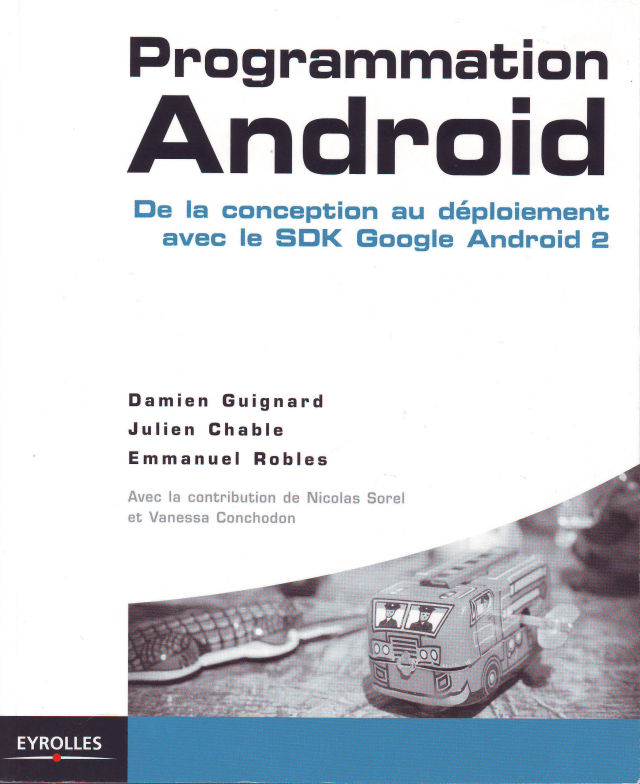 Livre « Programmation Android » chez Eyrolles