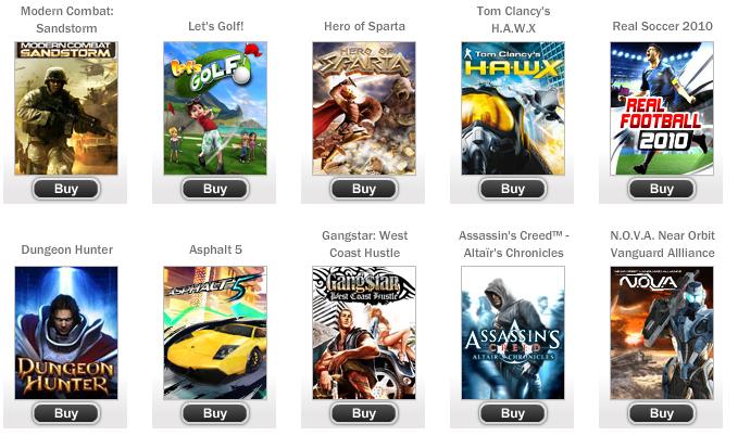 (MàJ) Gameloft : Une avalanche de jeux 3D en HD sur Android !