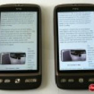 HTC Desire : La comparaison entre Amoled et SLCD
