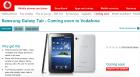 (MàJ) La Galaxy Tab est confirmée chez Vodafone UK !