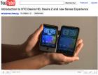 Le Desire HD, le Desire Z et la nouvelle version de Sense en vidéo
