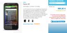 Le HTC Desire HD visible sur le site officiel The Phone House !