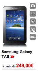 La Samsung Galaxy Tab est en vente chez Virgin Mobile à partir de 249€