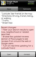 Le changelog des applications affiché sur l'Android Market