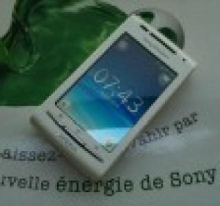 Test du Sony-Ericsson Xperia X8 sous Android