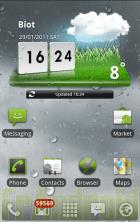 Le widget météo du LG Optimus 2X en téléchargement pour tous