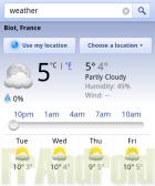 La météo s'affiche dans les recherches Google, version mobile
