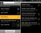 Synchronisation de la musique, l'une des futures intégrations d'Android