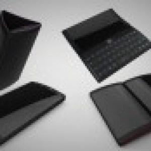 Le concept d'un androphone à trois écrans tactiles