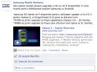La mise à jour du Samsung Galaxy S vers Gingerbread pour la fin du mois (en Roumanie)