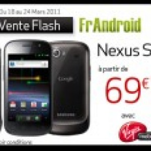 Vente Flash : Le Google Nexus S en version blanche chez Virgin Mobile