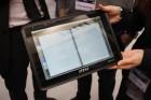 La version noire de la MSI WindPad 100A sous Tegra 2 et Android aperçue au CeBIT