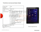 La ThinkTab de Lenovo sous Honeycomb vient de fuiter