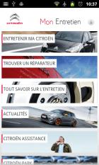Android bichonne votre Citroën
