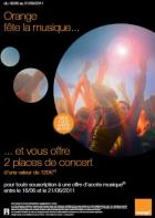 Orange offre 120€ en places de concert pour les nouveaux clients Origami Style et de l'option Open musique
